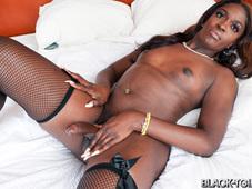 Le Bunni Hot Black Lingerie Sweet Booty Photos