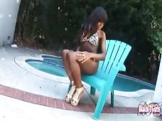 Poolside Pumping Video with Bambi Prescott