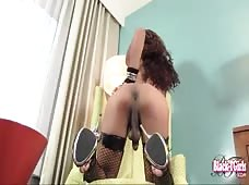 Carmen Bonita Black Tranny Blowjob
