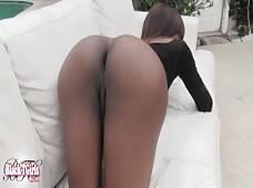 Kira Throbbing Black Shemale Cock