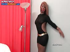 Sweet Melodii Shemale Sexy Tight Black Dress